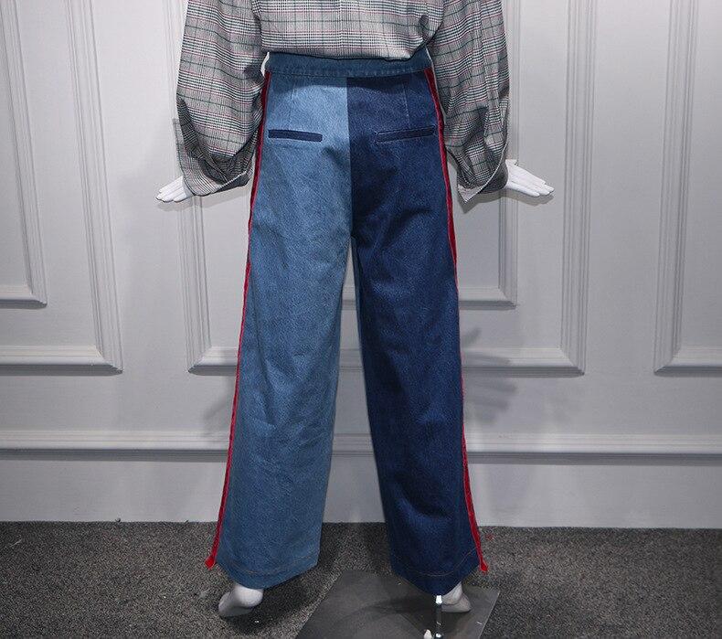 97f8fb582f 2019 Pantalones Denim Jeans Alta Para De Mujeres Terciopelo Longitud La  Piernas Cintura Empalmado Las Vaqueros ...
