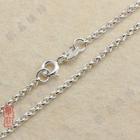 925 Sterling Silver Jewelry Crosses Link Chains Woman Man Necklaces 2mm Width DIY Pendants Argent Silver