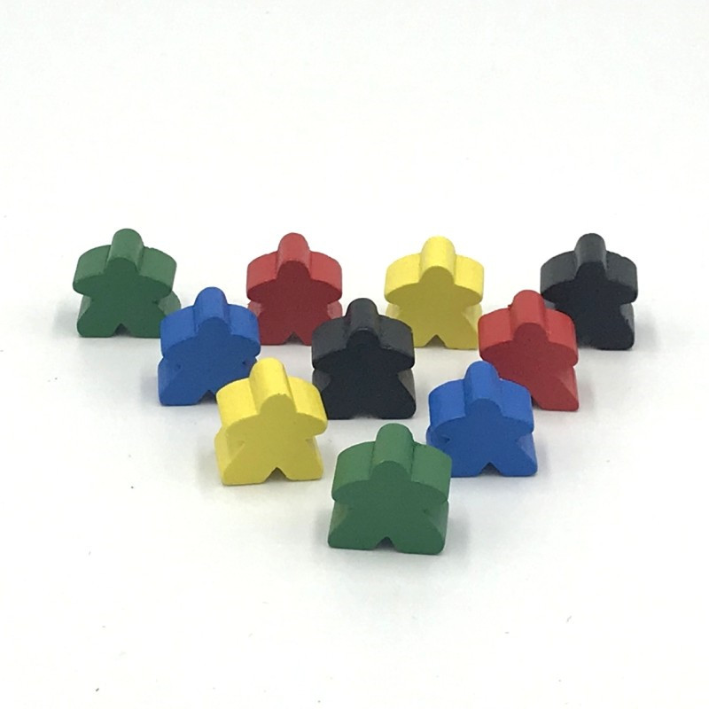 30 Pieces Wooden Pawn/ Chess Standard Size 16mm For Meeple Carcassonne Board Game Accessories 16mm*16mm
