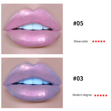 HANDAIYAN Liquid Crystal Glow Lip Gloss Laser Holographic Lip Tattoo Lipstick Makeup Mermaid Pigment Glitter Lip Gloss TSLM2