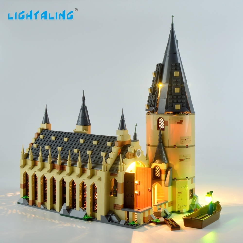 Lightaling Light Set Hogwarts Great Hall LED Light Kit Compatible With 75954 (NOT Include The Model)