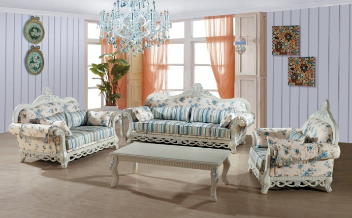 Modern Royal Ukraine Living Room Funiture For Fabric Sofa Set 3+2+1 With 2  Color From Foshan Furniture Market PRFA16 Part 91