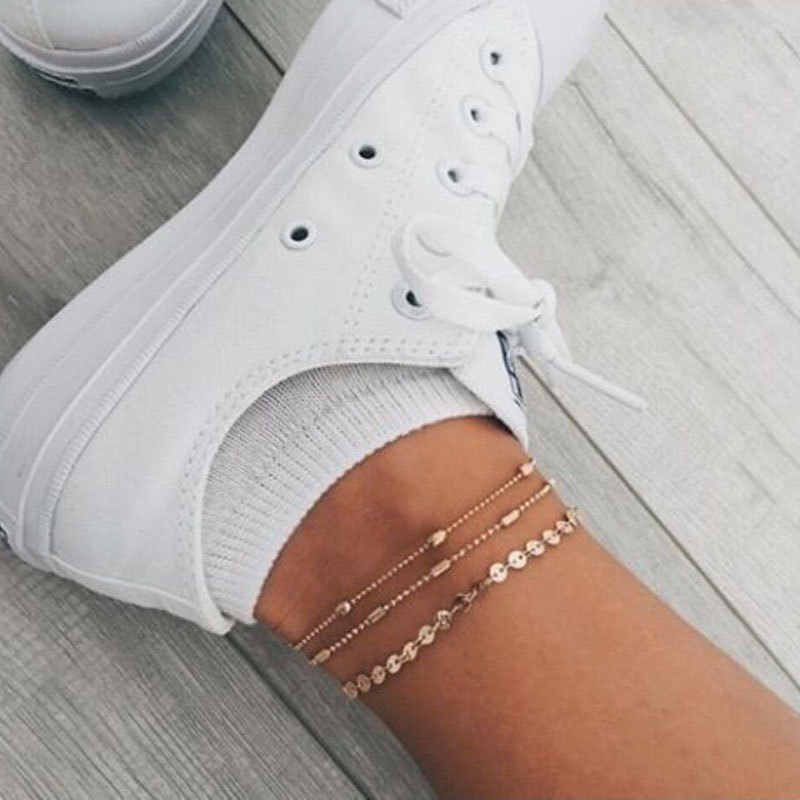 Summer Beach Turtle Charm Rope String Anklets For Women Ankle Bracelet Woman Sandals On the Leg Chain Foot Jewelry