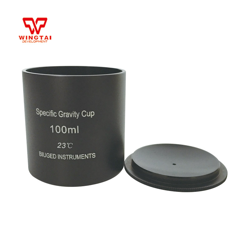 100cc/ml Capacity Black Aluminium Oxide Density Cup Specific Gravity Cup