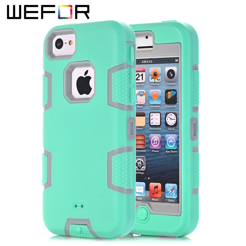 iphone 5c phone cases for iphone 5c wefor hybrid rugged layer combo 2343