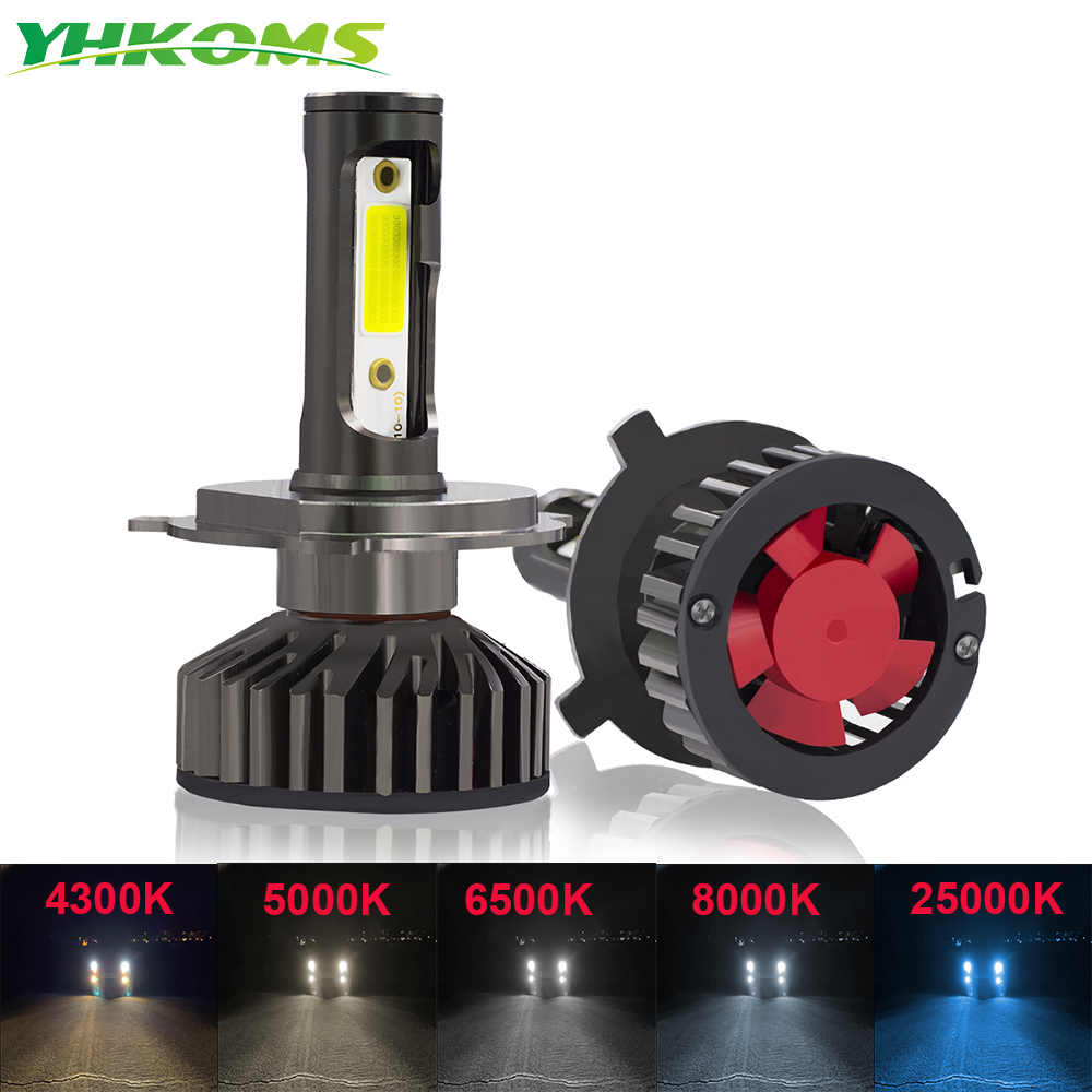 YHKOMS 5000K 8000K LED H4 H7 H1 H11 Car Headlight H8 H9 H3 9005 9006 880 881 3000K 4300K 6500K 8000K Auto LED Lamp Fog Lighting