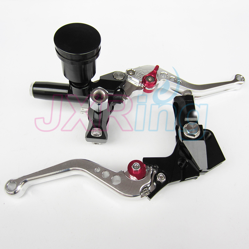 Black Motorcycle Left&Right Hydraulic Brake & Clutch Master Cylinder Lever With Oil Pump Fit CRF KXF YZF WR RMZ EXC цены онлайн