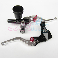 Black Motorcycle Left&Right Hydraulic Brake & Clutch Master Cylinder Lever With Oil Pump Fit CRF KXF YZF WR RMZ EXC
