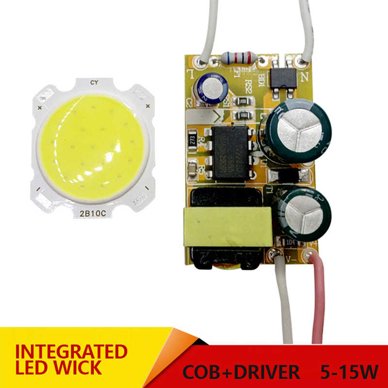 3W 5W 7W 10W 12W COB 15W LED + Driver Power Supply Built-konstan Saat Ini Lampu 85-265V Output 300mA Transformer
