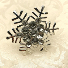 12PCS hotel supplies Christmas snowflake napkin buckle ring alloy mouth cloth towel