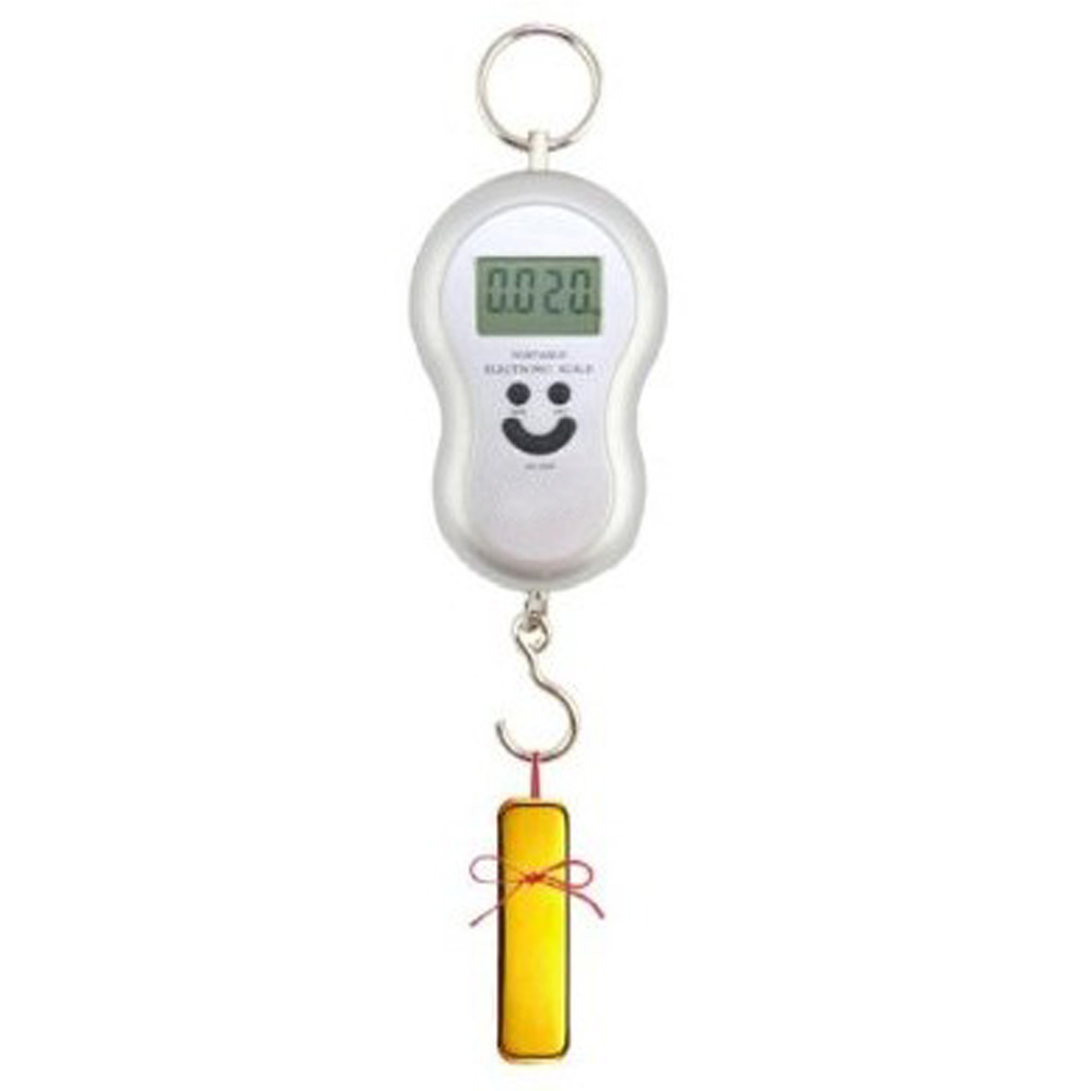 Sourire 40 KG/10G Portable Digital Pocket Balance Électronique Gourde Forme De Poche Hanging Bagages Échelle