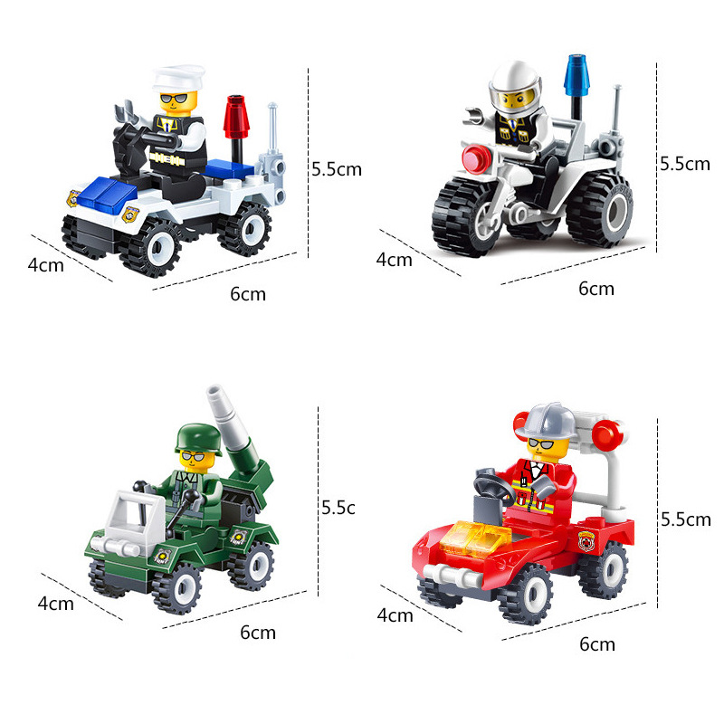 12 Kinds Original Mini Transportation Block Car Building Assembly Model Kids Toys Children Birthday Gifts Compatible Legoing B07 in Model Building Kits from Toys Hobbies