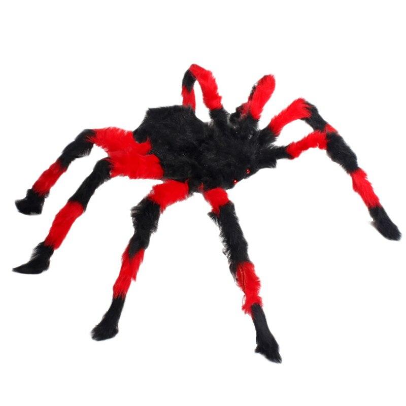 75cm large size plush spider halloween decor toy props party bar halloween decorationchina