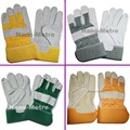NMSAFETY 1 Пар Короткие дизайн термостойкие сварочные перчатки теплые перчатки кожаные перчатки сварщика, Перчатки
