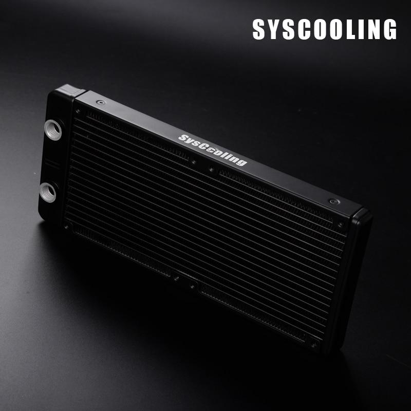 Syscooling AS240 T high quantity aluminum cpu radiator 120mm fan computer heatsink
