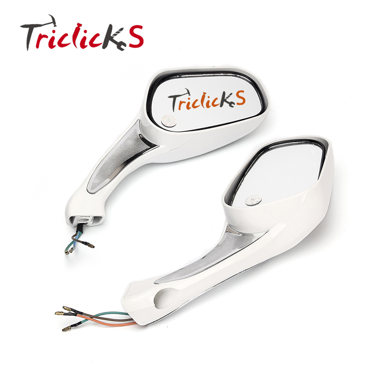Triclicks 8mm 10mm <font><b>LED</b></font> Turn Signals Mirrors Motorcycle Rear View Mirror For 150cc Jonway 150cc 150T-12 Parts <font><b>GY6</b></font> 50 150 Scooter