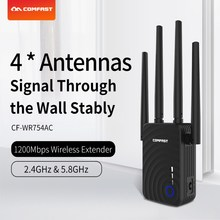 Comfast 1200Mbps Dual Band Ac WiFi 5GhzยาวWifi Range Extender Booster Repetidor 4เสาอากาศไร้สายN Router