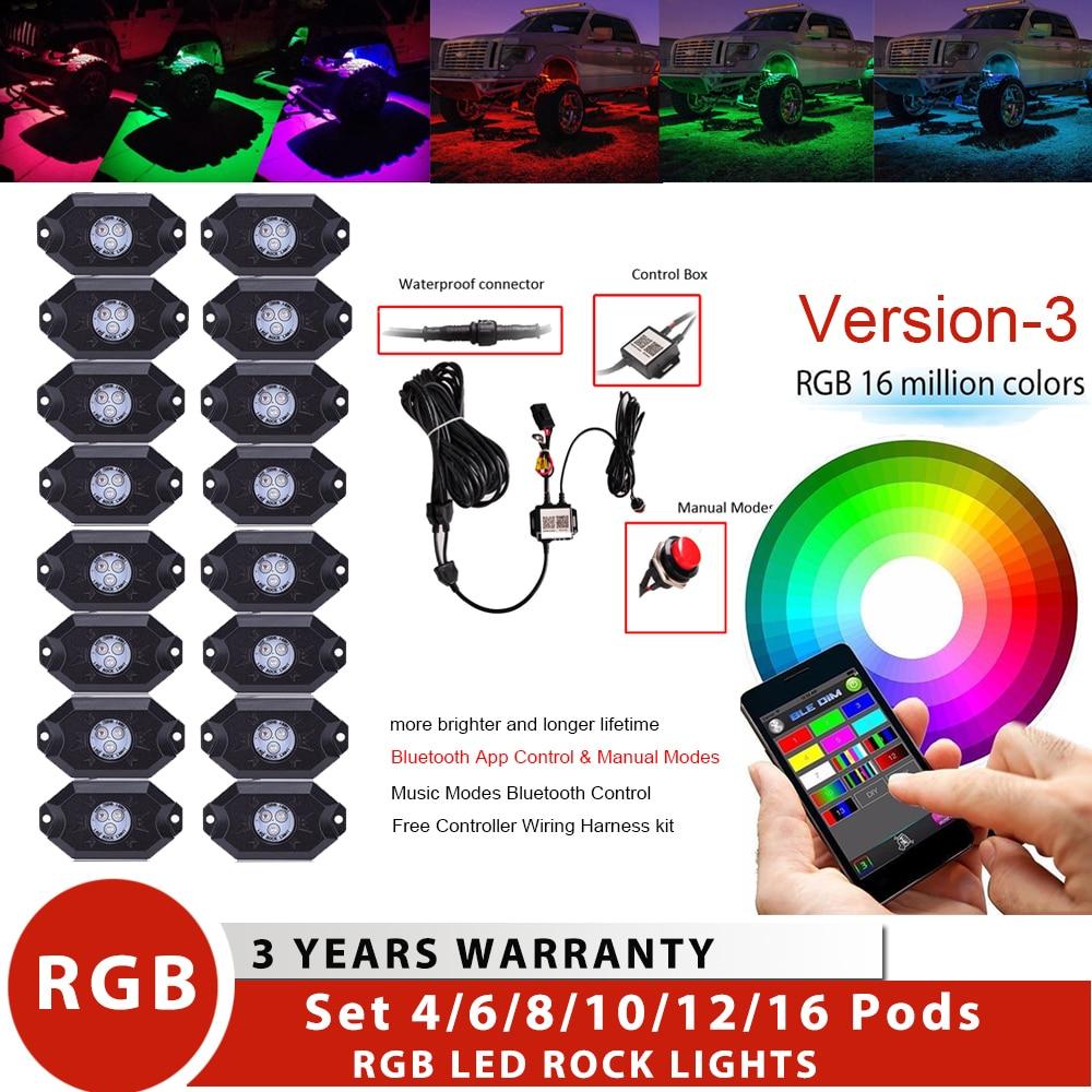 "20/"" Marine LED Light Bar RGB Color Changing Boat LED Light Kit"