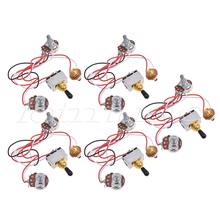 Prewired Wiring Harness Kit 3 Way Toggle Switch 500k Pots Jack for Electric Guitar Parts 5_220x220 compare prices on wire toggle switch online shopping buy low EZ Wiring Harness Diagram Chevy at bayanpartner.co