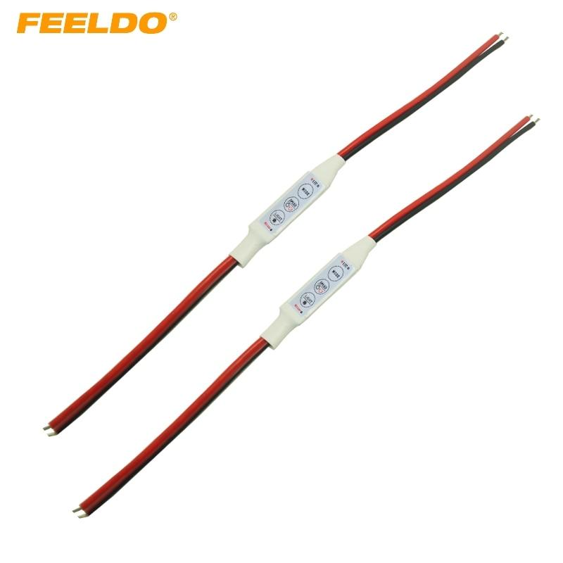 FEELDO 2pcs New DC5V~24V LED Flasher Module Flash Strobe Controller For Warning LED Brake/Stop Light Daytime Lamp #CA947
