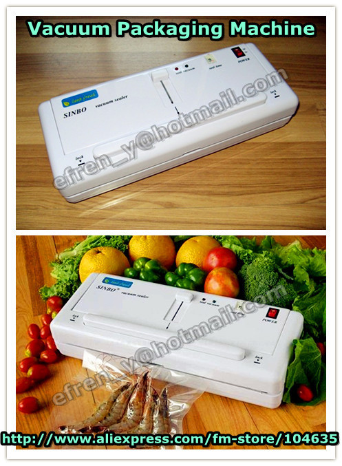 ФОТО wholesale Hight Quality  Warranty One Year !110V/220V DZ-280 Household SINBO Vacuum sealer machine, vacuum heat sealing machine