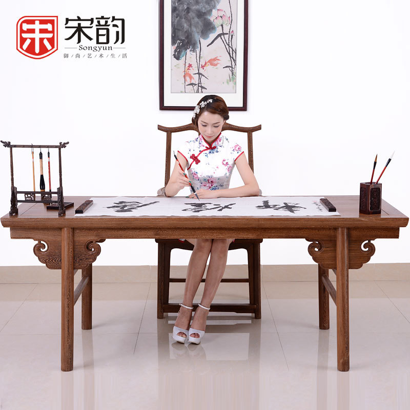 The Study Of Chinese Painting And Calligraphy Of Song Rhyme Mahogany Furniture Wood Table Table Desk Manufacturers Selling Woode