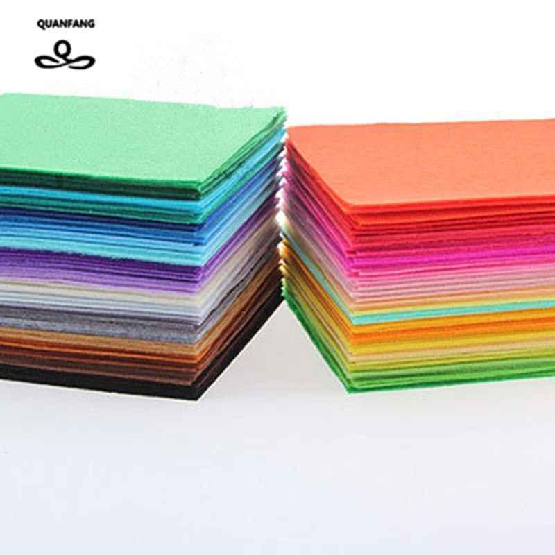 10x10 cm QUANFANG 40 tessuto di feltro Non tessuto 1mm spessore poliestere decorazione della casa modello Bundle per cucire bambole artigianato