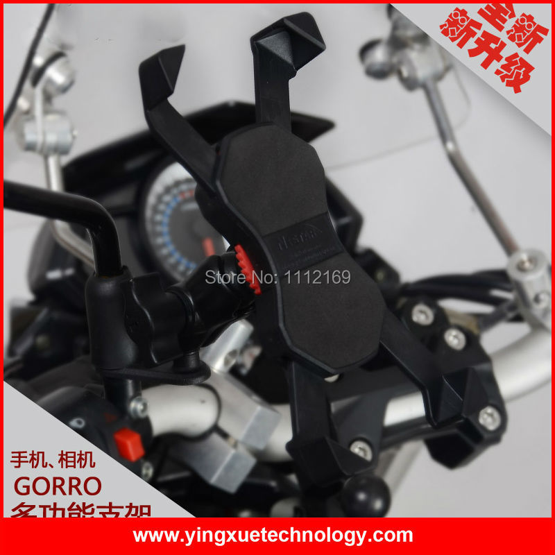 Motorcycle <font><b>Scooter</b></font> Mirror Mount Rear View Cell <font><b>Phone</b></font> <font><b>Holder</b></font> for Gopro and 4-6 Inch Screen Smart <font><b>Phones</b></font>