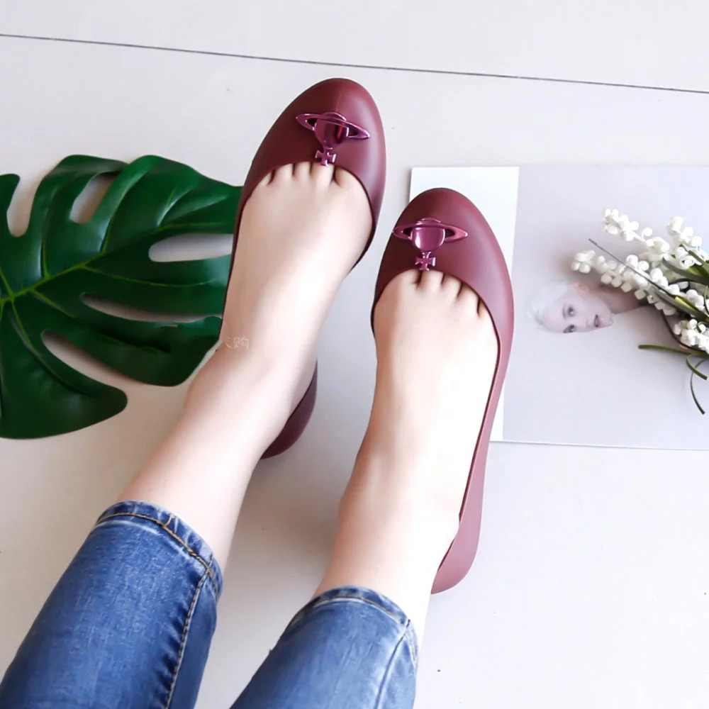 053537e145 Melissa Original Shoes Planet Women Sandals Jelly Shoes 2019 Flat ...