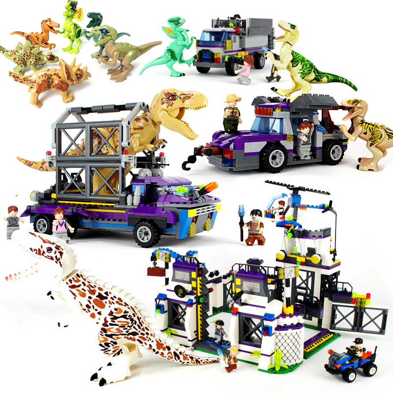 все цены на Legoings Jurassic World 2 Dinosaurs Figures Building Blocks Toys Tyrannosaurus Rex Brick Children Boy Dinosaurs Toys Kids Gift