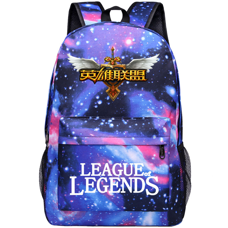 New Student Backpack League of Legends Game Heroes Cool Backpack For Teenage Children School Bags Women Men Schoolbag Travel Bag lisa renee jones liesk mane