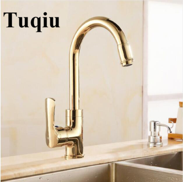 Luxury Rose Gold/ Gold/Chrome Swivel Kitchen Faucet Bathroom Vessel Sink Mixer Tap Swivel Cozinha Torneira Plumbing Sanitary gold satin kitchen faucet space aluminum gold single handle hot cold water vessel sink basin tap mixer torneira cozinha