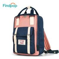 Findpop Patchwork Backpack Women Large Capacity Waterproof Backpack Bags For Women 2018 Fashion Vintage Kanken Backpack