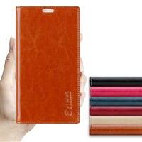 Original Aimak High Quality Luxury Genuine Leather Sucker Phone Case For Xiaomi Mi Note 3 Note3
