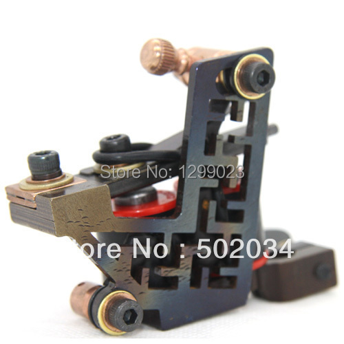 Professional Luo's Handmade Tattoo Gun 10 Wrap Coils Alloy tattoo Machine Tattoo Beginner Artist Special For liner TM-1200 new arrival red coil tattoo machine professional 10 wrap coils tattoo frame cheap tattoo machine top steel tattoo gun tm 7320