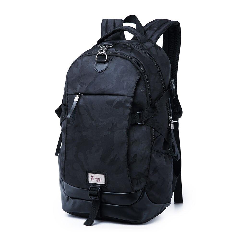 Mens new Oxford multi-function waterproof breathable backpacks Vertical computer bag Travel wear large-capacity