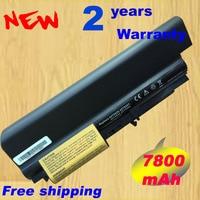 7800mAh 9cell Battery For IBM For Lenovo T400 T61 battery t61P R400 R61 laptop battery bateria fast shipping