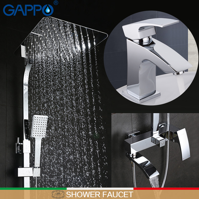 GAPPO bathroom faucet mixer brass basin mixer taps basin sink faucet Sanitary Ware Suite