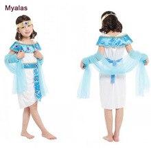 Bambini Vestito Dal Fiore del Vestito della Regina Egiziana Ragazza  Pannello Esterno Della Principessa Costume di d6f82073e19
