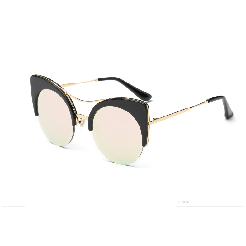 8aa67b61e4 CandisGY Round Oversized Stylish Women Brand Designer Pink Mirror Cateye  Sunglasses Party Vintage Lady Sun Glasses