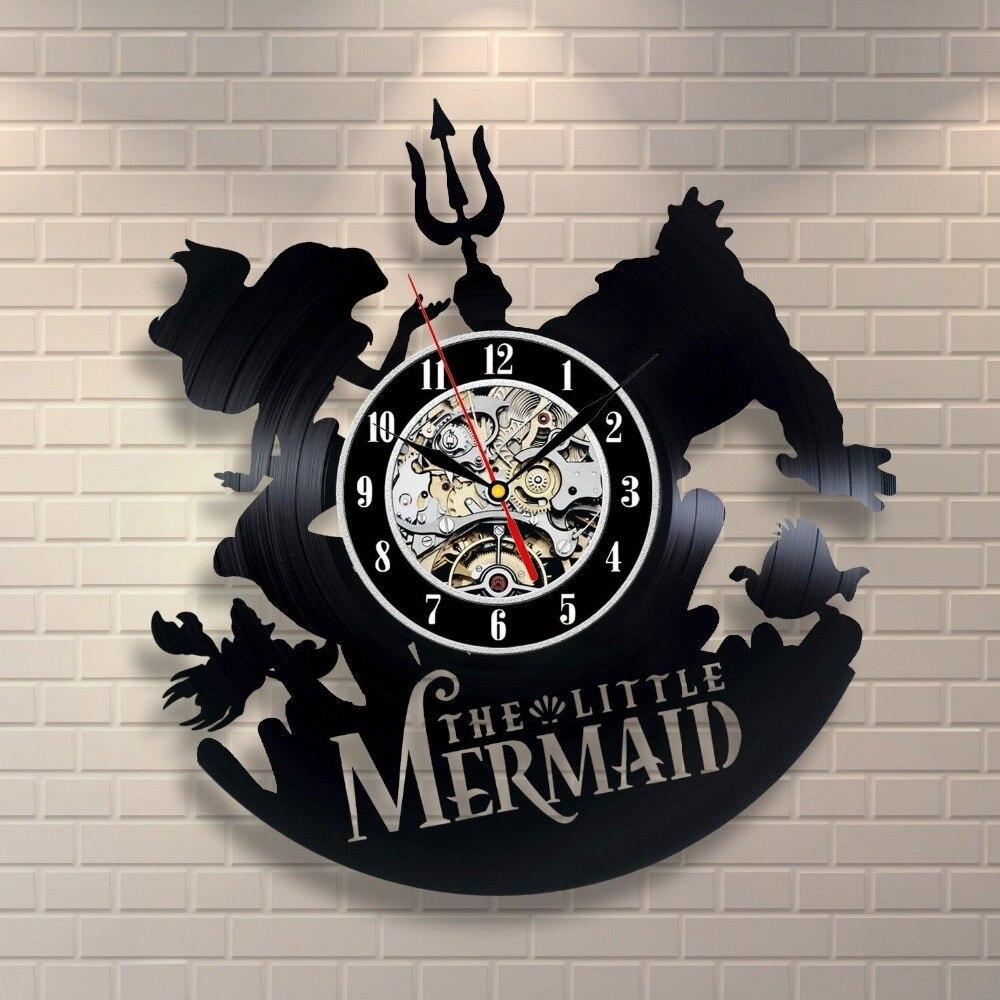 The Little Mermaid King Triton Vinyl Record Wall Clock