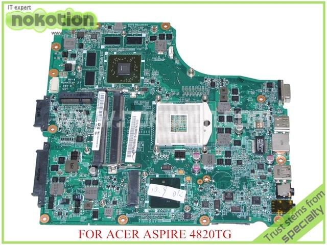 Da0zq1mb8f0 REV F MBPVL06001 mb. Pvl06.001 para acer aspire 4820 T 4820TG HM55 placa-mãe DDR3 ATI HD5650M