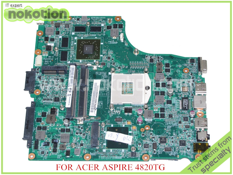 NOKOTION DA0ZQ1MB8F0 REV F MBPVL06001 MB.PVL06.001 For acer aspire 4820T 4820TG motherboard HM55 DDR3 ATI HD5650M nokotion sps v000198120 for toshiba satellite a500 a505 motherboard intel gm45 ddr2 6050a2323101 mb a01