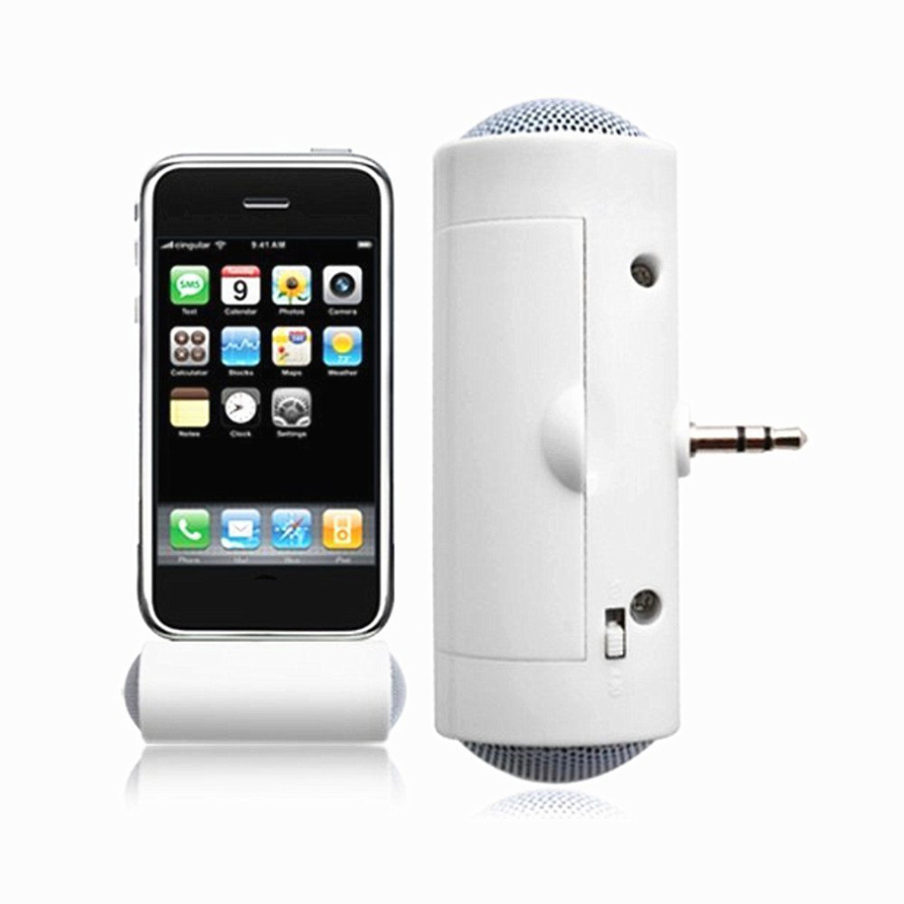 Stereo Mini MP3 Player Amplifier Loudspeaker for Smart Mobile Phone iPhone iPod, MP3 3.5mm connector Audio Playback image