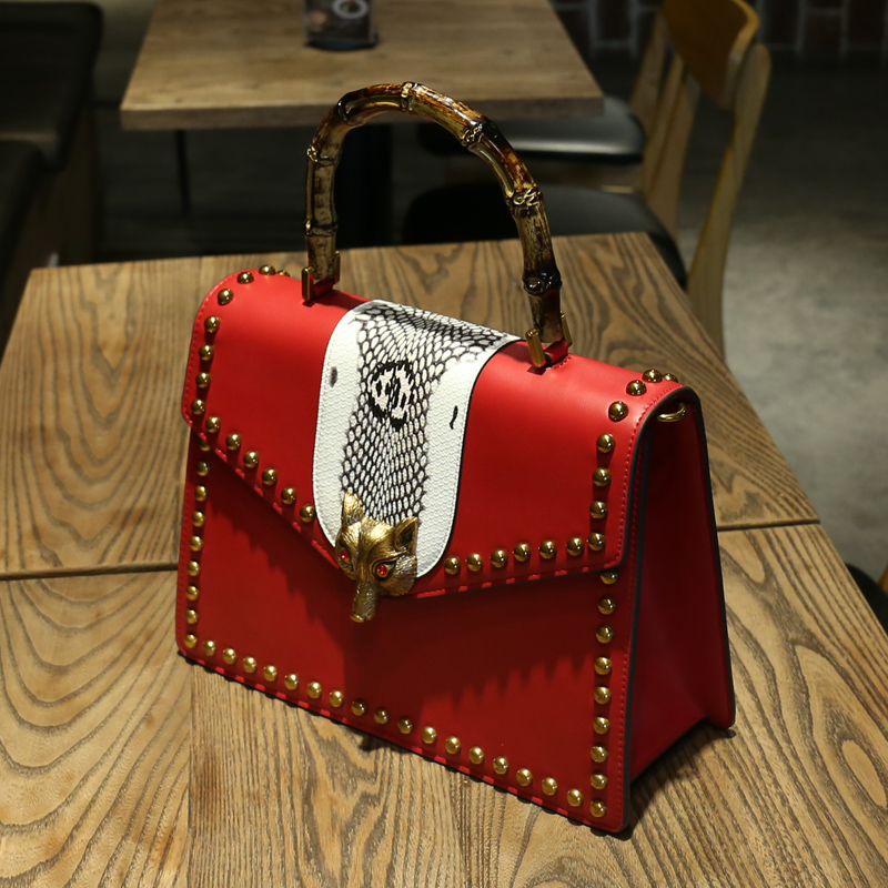 europe famous designer fashion women fox luxury handbags snake hit