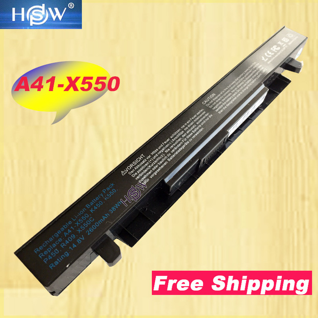HSW 4 תא מחשב נייד סוללה עבור Asus A41 X550 A41 X550A X550 A450 A550 F450 F550 F552 K450 K550 P450 P550 R409 r510 X450 X550C X452