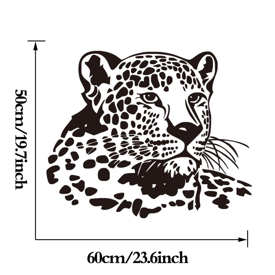 DCTOP Leopard Vinyl Wall Sticker Funny Wild Animal Mural Stickers ...