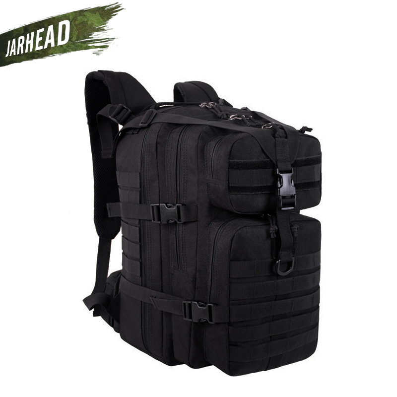 купить 37L Men Outdoor Sports Camping Backpack Military Assault MOLLE Rucksack Hunting Army Combat Travel Climbing Tactical Knapsack по цене 2524.75 рублей
