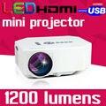 1200 lúmenes Cine HDMI LED LCD Juego Portátil uC30 PC Mini Proyector Digital Full HD Projetor Película Película 1080 P Proyector Beamer