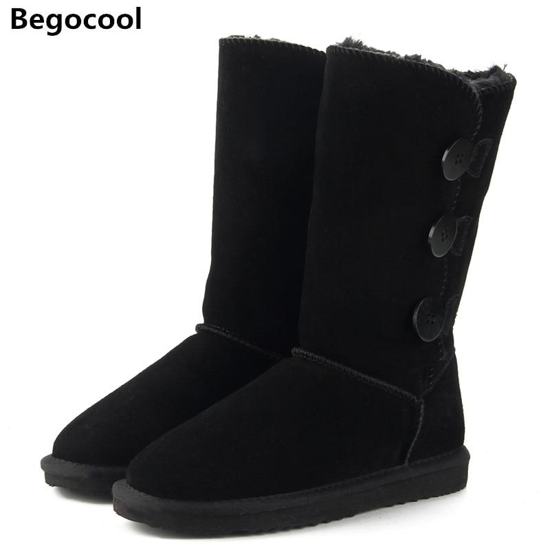 Новый UG классические женские зимние ботинки кожа зимняя обувь ботинки bota feminina Botas Mujer Zapatos Для женщин зимние ботинки на меху Размеры США 4-13